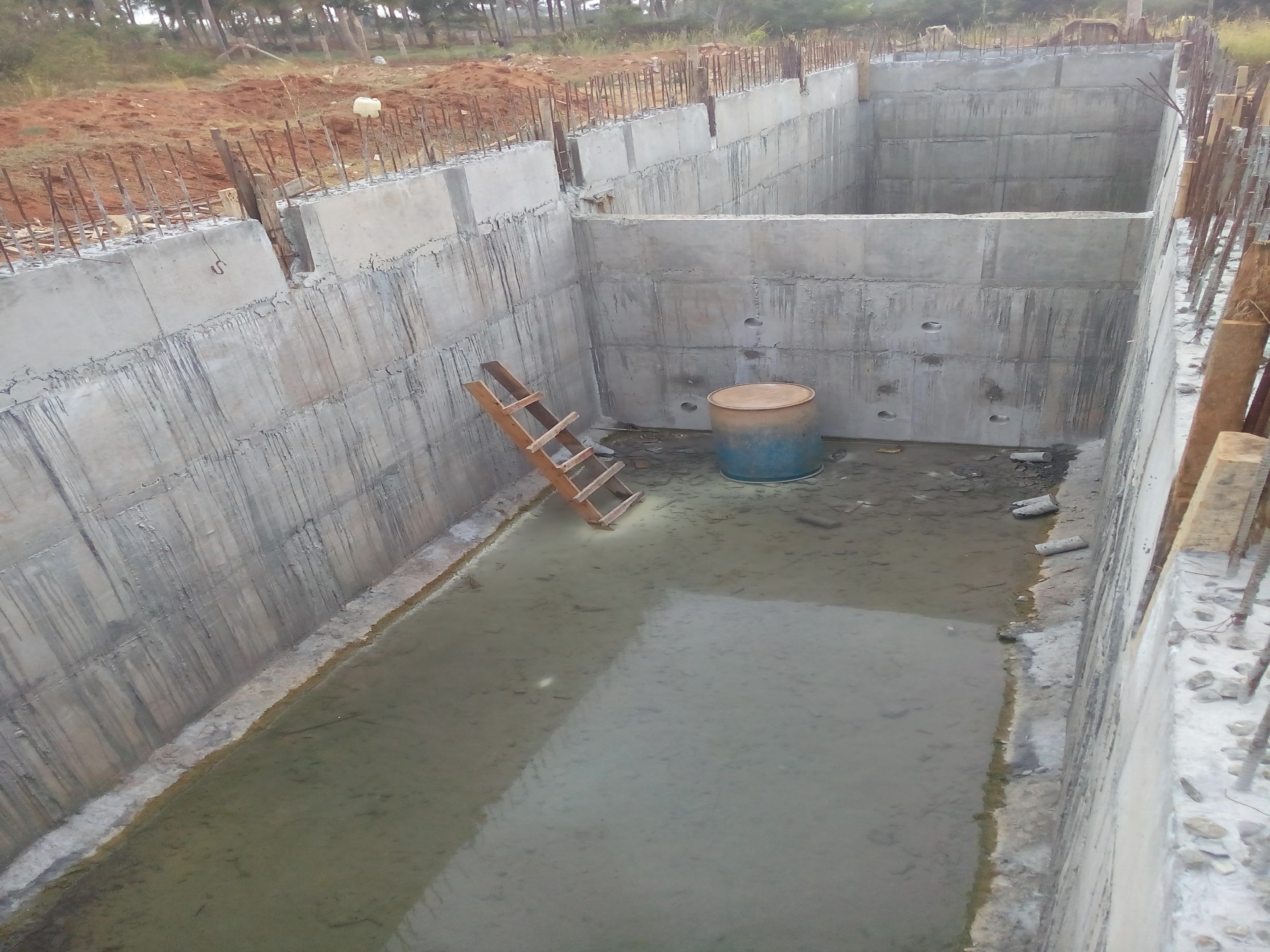 Waterproofing For Tank : Ug sump oh tank epoxy laya concepts